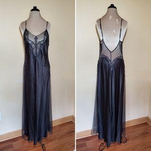 Vintage Victoria's Secret Black Maxi Nightgown